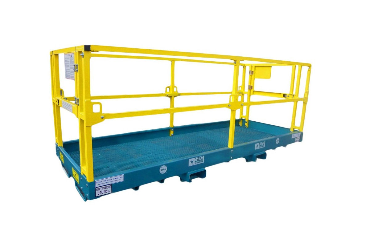 Forklift Man-Basket, 8′